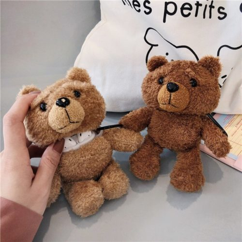 Soft Plush Bear Airpod Case
