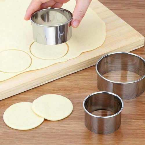 Steel Round Pastry Cutters (5pcs)