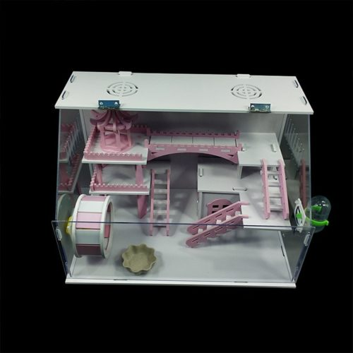 Double-Layer Acrylic Hamster Cage