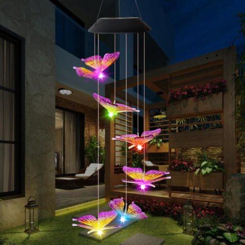 Six-LED Solar Powered Wind Chimes