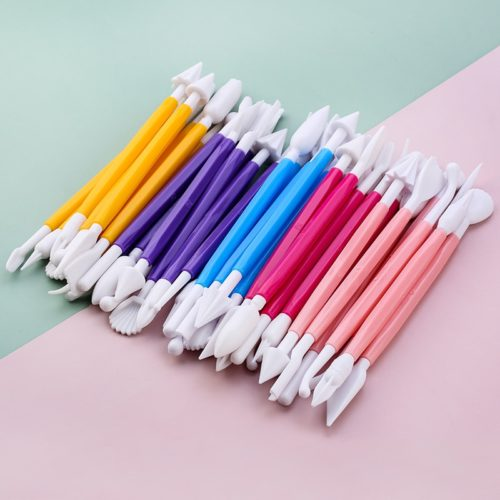 Dual Tip Fondant Tools Set (8 pcs)