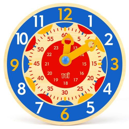 Wooden Teaching Clock for Kids