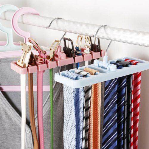 Rotating Hook Tie and Belt Hanger