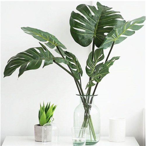 Artificial Monstera Leaves Decor (10 Pcs)