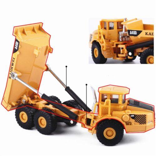 1:87 Scale Model Dump Truck Toy