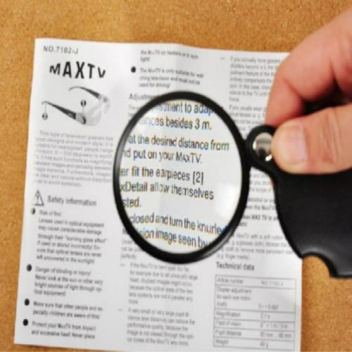 Pocket Magnifying Glass with Leather Pouch