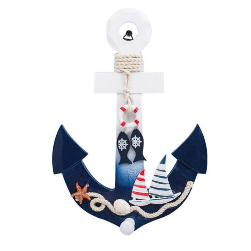 Hanging Wooden Anchor Wall Decor