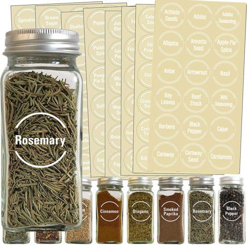 Transparent Self-Adhesive Kitchen Jar Labels