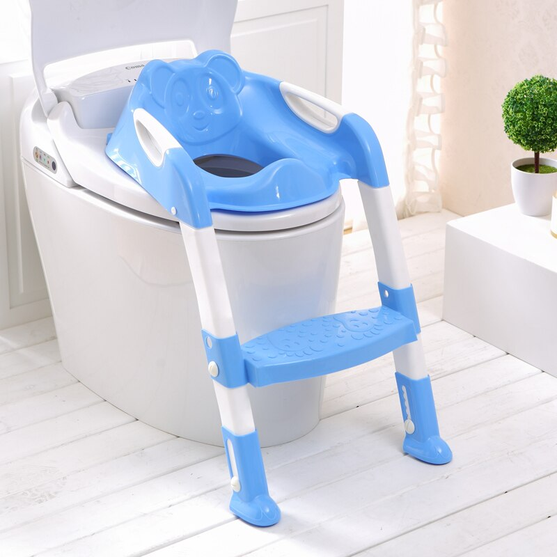 2 Colors Baby Potty Training Seat Children's Potty With Adjustable Ladder Infant Baby Toilet Seat Toilet Training Folding Seat