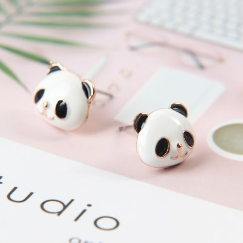 Cute Animal Shape Stud Panda Earrings