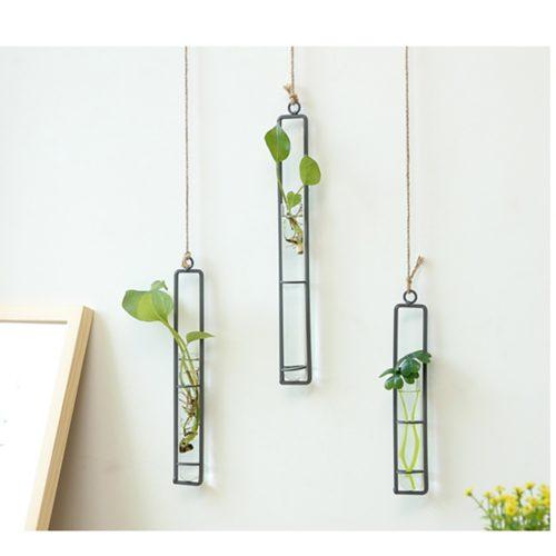 Glass Hanging Vase Hydroponic Tube Decor