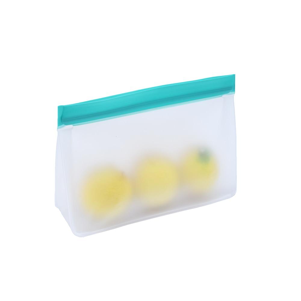 PEVA Food Storage Bag Upgrade Leakproof Top Stand Up Reusable Freezer Sandwich Ziplock Silicone Bag