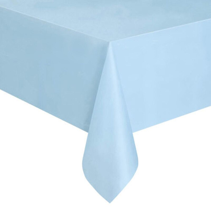 Environmentally friendly disposable plastic party wedding tablecloth set catering meal tableware table cloth rectangular