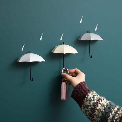 Umbrella Hooks Decorative Wall Storage (3 Pcs)