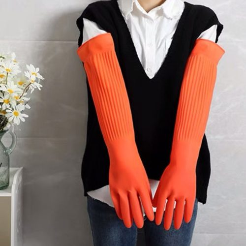 Long Rubber Gloves for Cleaning