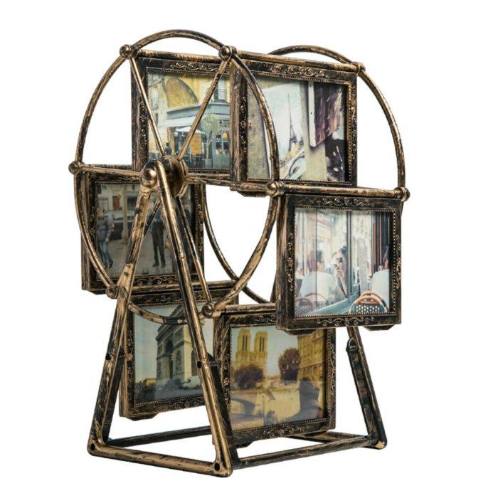 Six-Frame Iron Wheel Photo Frame