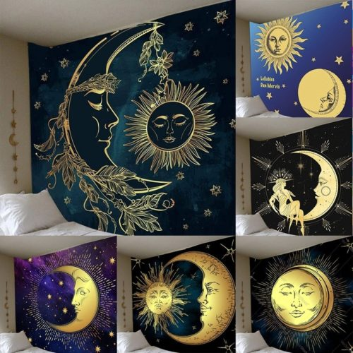 Bohemian Wall-Hanging Sun Moon Tapestry