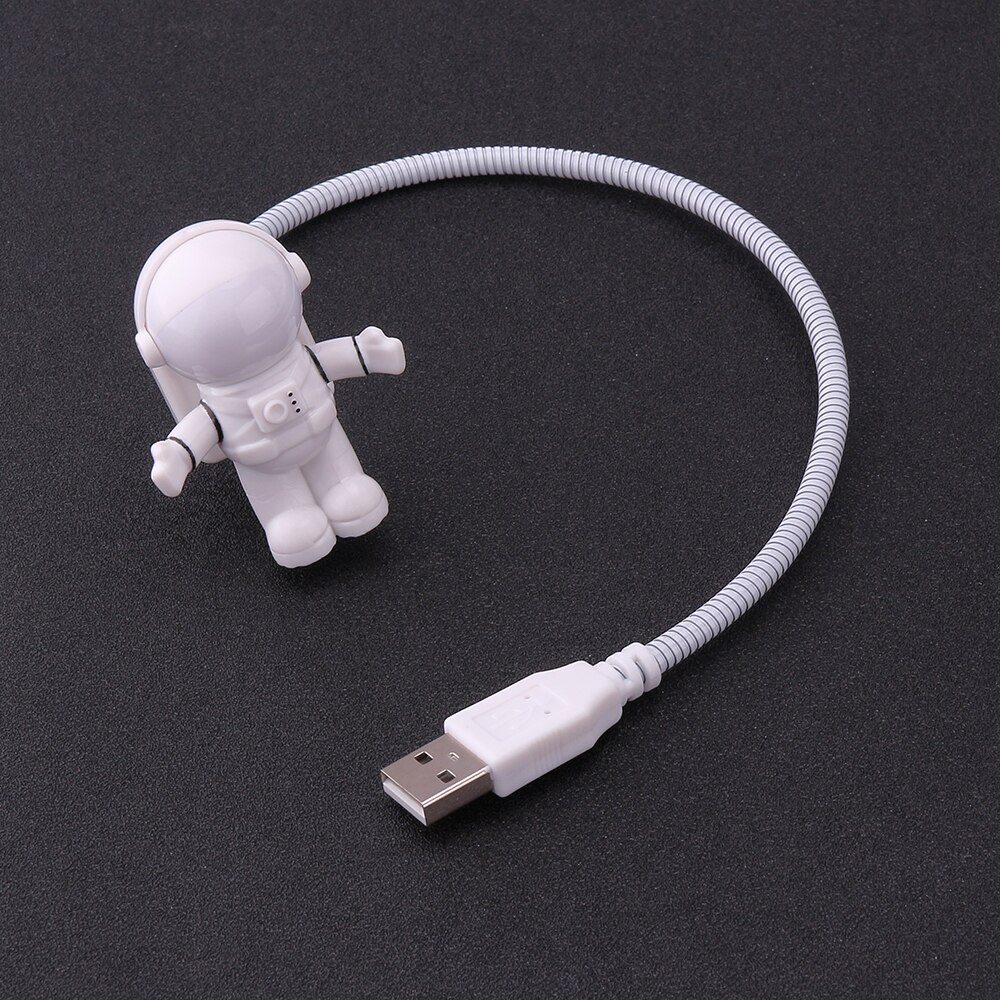 Mini Reading Lamp USB Tube For Computer Laptop PC Notebook Pure White Portable Spaceman Astronaut LED Night Light Adjustable