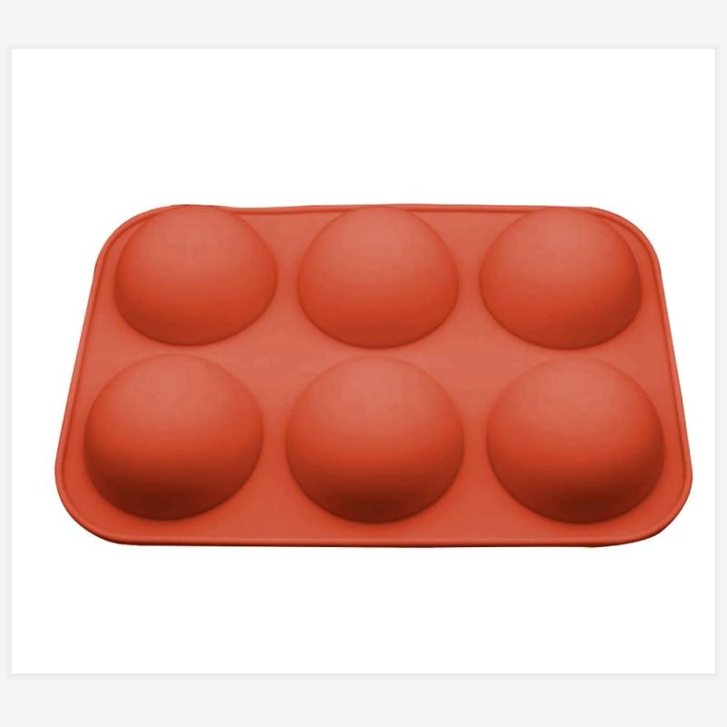 6 DIY Cavity Half Sphere Circle silicone Chocolate mold silicone sphere cake Mold Cocoa bomb Decorative Cake Mould Tool