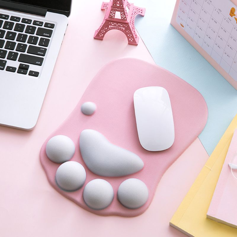 High Quality Cute Cat Paw Mouse Pad Nonslip Silicone Mice Mat PC Computer Wrist Rest Support
