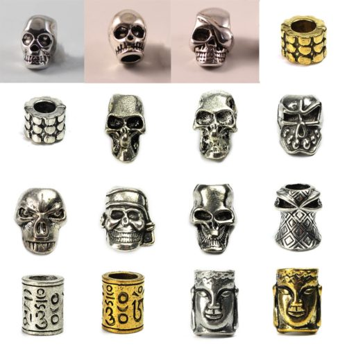 Metal Paracord Bracelet Charms (2pcs)