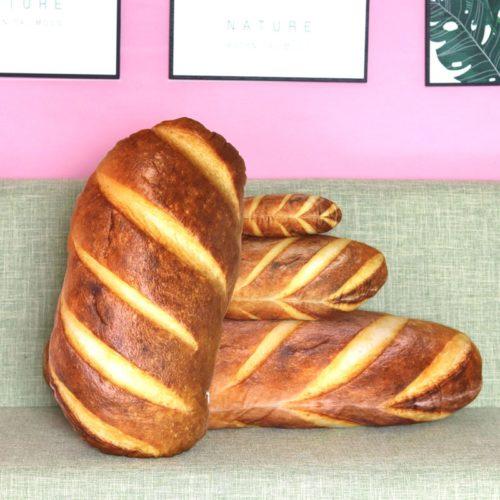 3D Soft Cushion Bread Shape Pillow