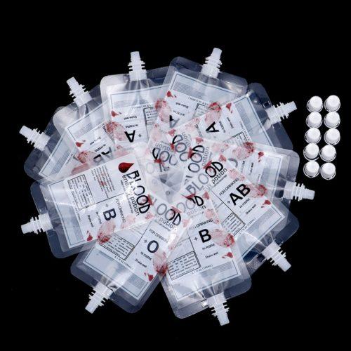 150ml Blood Bag Drink Pouches (10pcs)