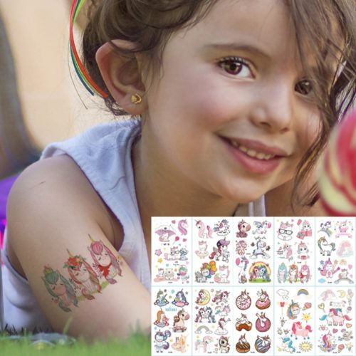 Cartoon Kids Temporary Tattoos (10 Sheets)