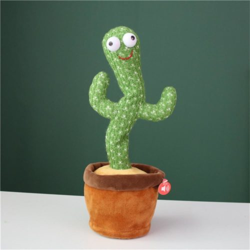 Battery-Powered Plush Dancing Cactus Toy