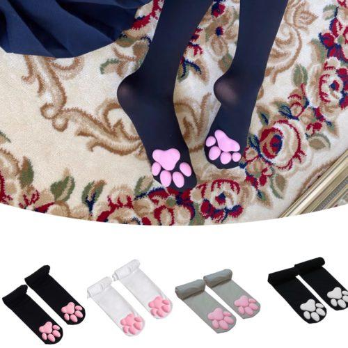 Knee High Cat Paw Socks