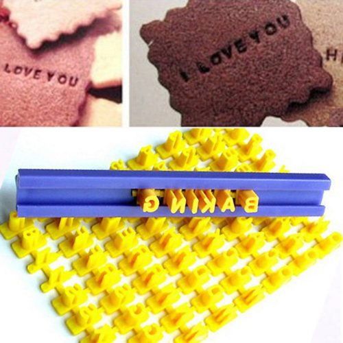 Alphabet Cookie Stamp Embossing Tool
