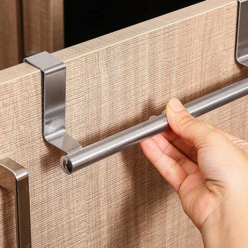 Stainless Steel Over Door Towel Bar