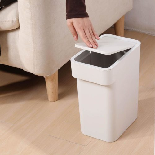 Plastic Garbage Bin Press Type Trash Can