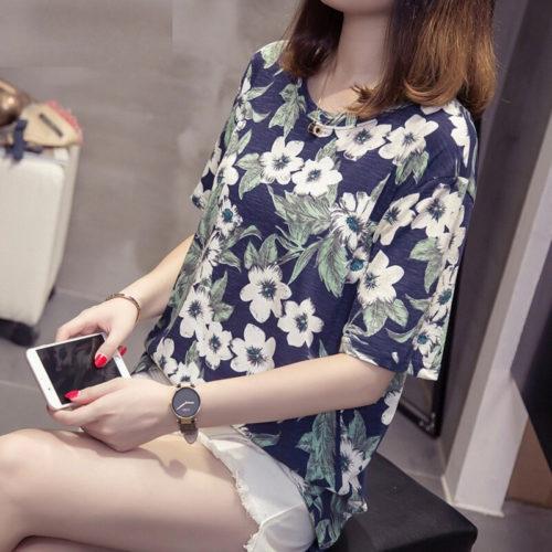 Ladies Plus Size Floral Top