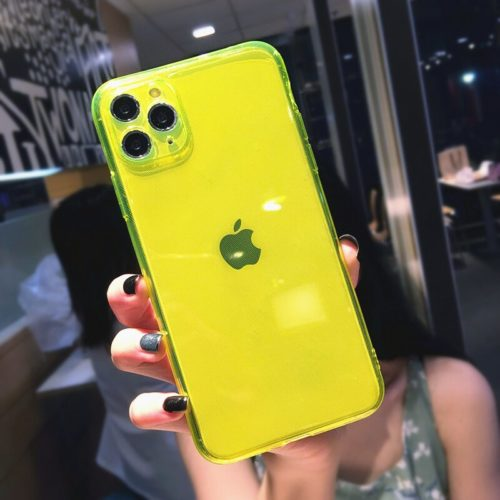 Transparent Neon iPhone Case