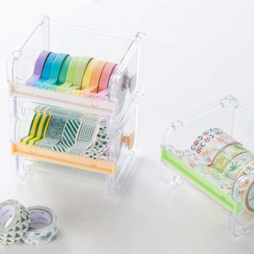 Washi Tape Dispenser with Tapes (10pcs)