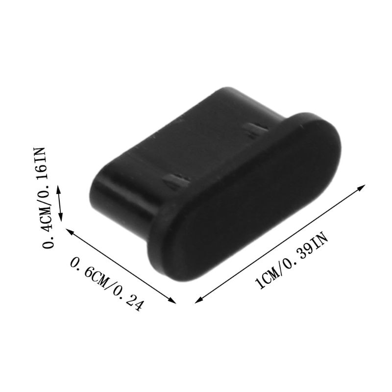 5PCS Type-C Dust Plug USB Charging Port Protector Silicone Cover for Samsung Smart Phone Accessories