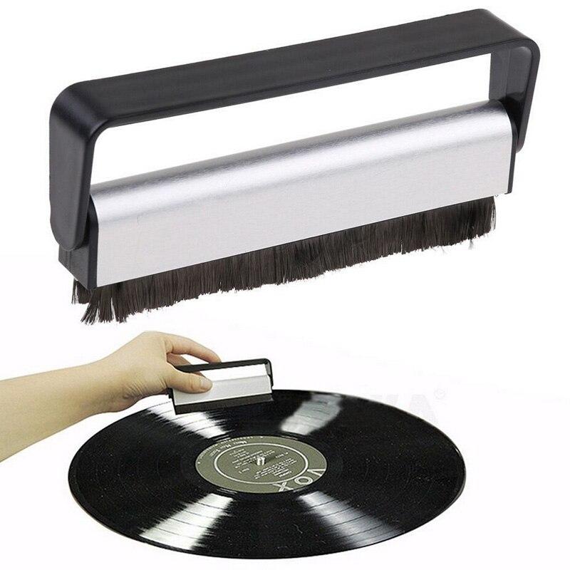 Vinyl Record Cleaner Vinyl Antistatic Carbon Fiber Record Dust Cleaner Brush Turntable Fibre Cleaning Carbon Fiber Anti-Static