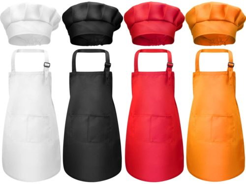 Children's Apron with Chef Hat Costume