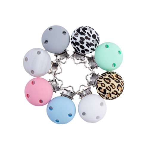 Three Hole Baby Pacifier Clips (4 pcs)