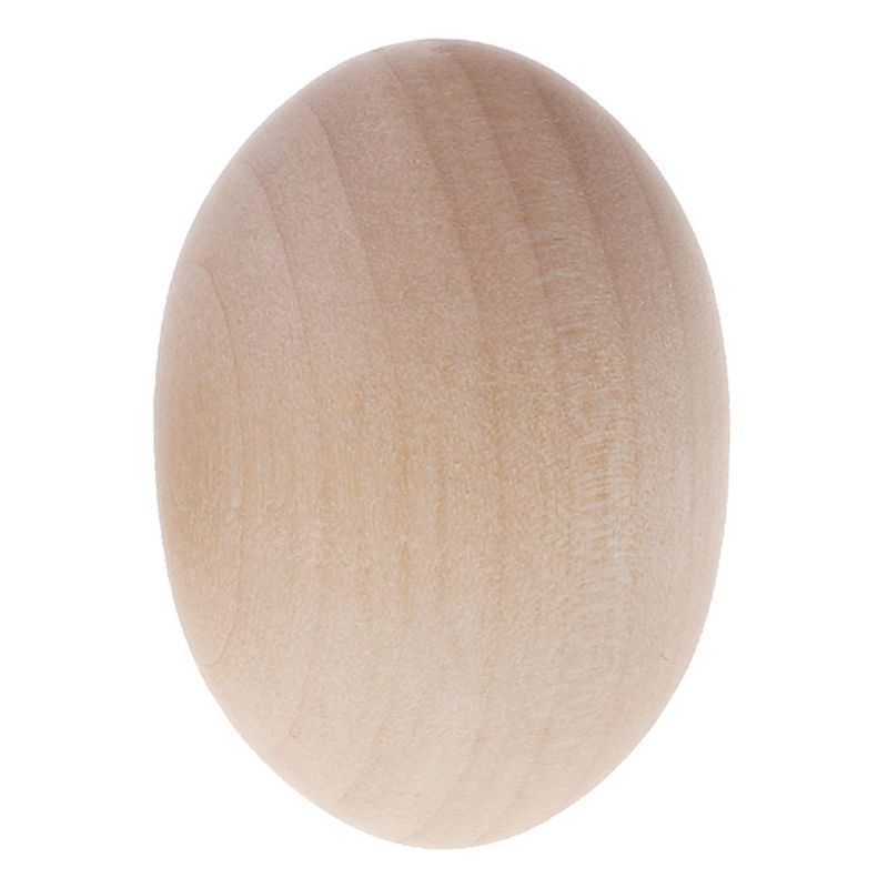 Natural Wood Simulation Eggs Manual Graffiti Painted Exercise DIY Creative Easter Egg Children Early Educational Toy Drop Ship