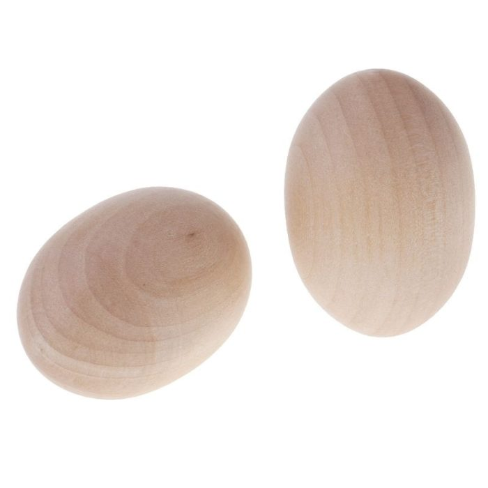 Wooden Egg For Craft and Easter Ornament