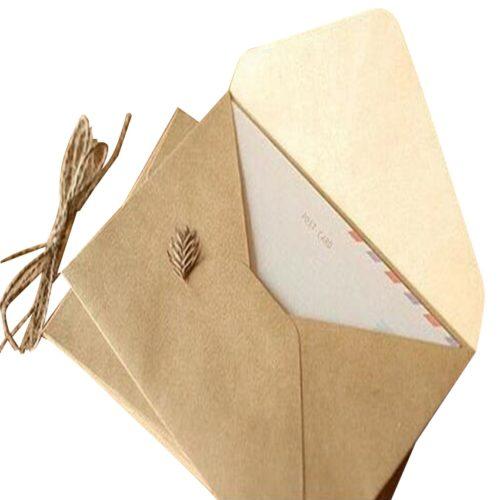 Kraft Paper Envelopes Invitation Wrappers 50pcs