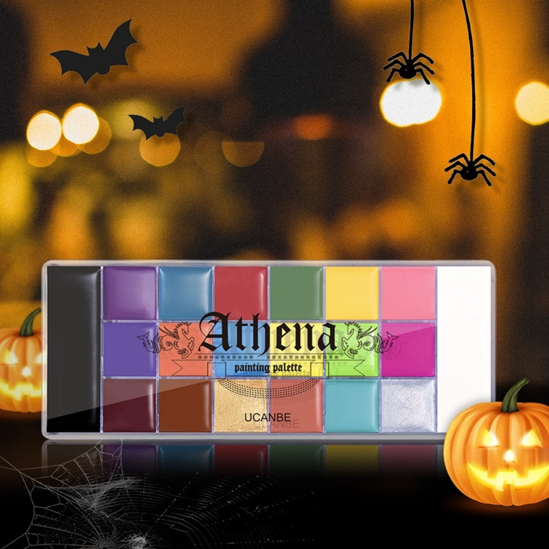 20 Colors Safe Cosmetic Flash Tattoo Painting Art Halloween Party Makeup Fancy Dress Beauty Palette Face Body Painting Oil