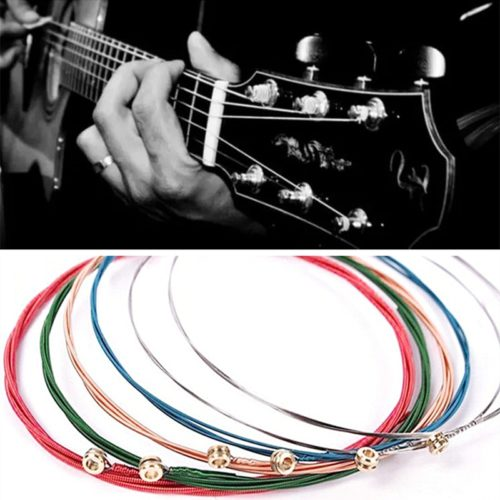 Colorful Guitar Strings Rainbow Set (6 Pcs)
