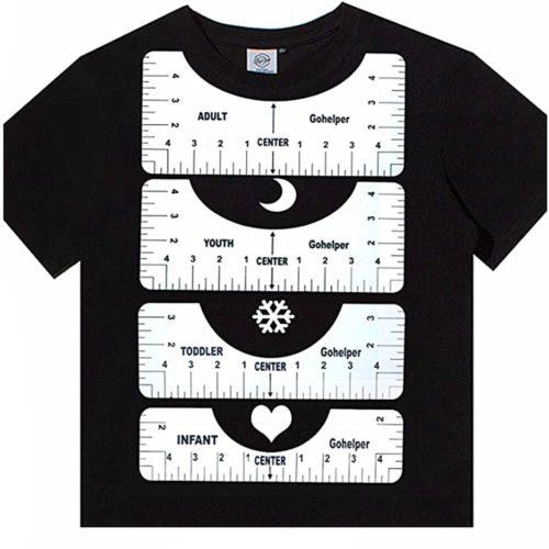 Plastic T Shirt Guide Rulers (4pcs)
