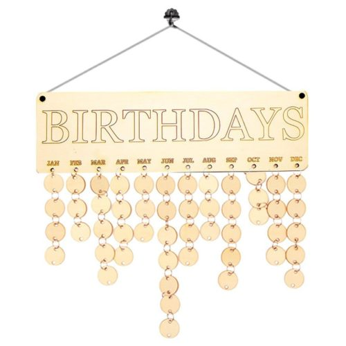 Wooden DIY Hanging Birthday Calendar