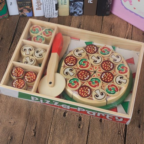 Kitchen Pretend Play Wooden Toy Pizza