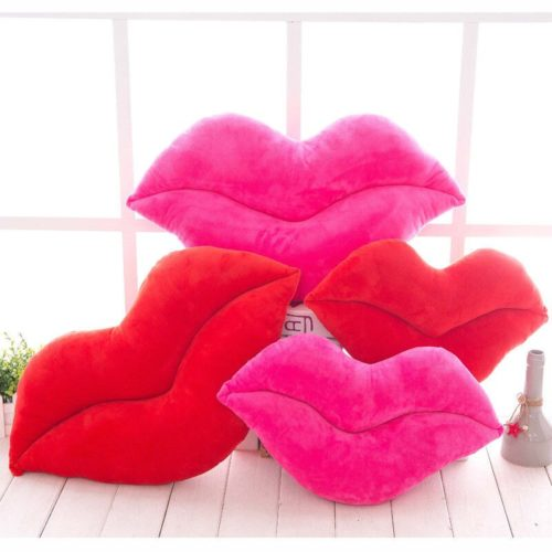 Soft Cotton Lip Pillow Cushion