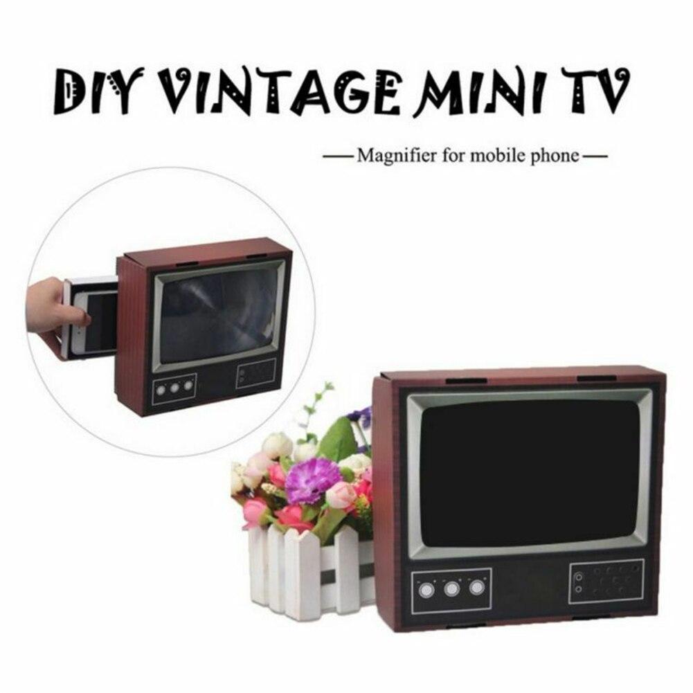2020 Retro TV Phone Screen Video DIY Enlarger Amplifier Magnifier Retro TV Appearance